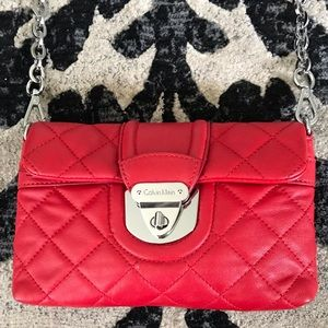 Calvin Klein Quilted Bag with Detachable Strap